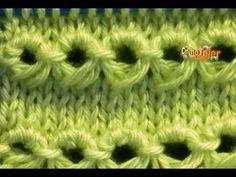 Cómo Tejer Punto PERUANO-Broomstick Loop Stitch - 2 Agujas (120) - YouTube