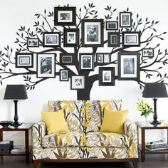 Family Tree Wall Decal - Photo Tree Decal - Family Tree. $159.00, via Etsy.