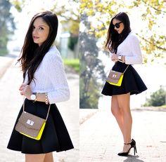 Choies Skirt, Mtng Mustang Bag, Daniel Wellington Watch
