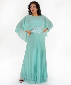 Φόρεμα Μουσελίνα Πράσινο