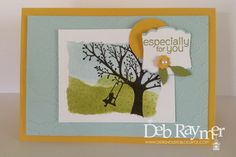 Retired stamp sets, Card made by Deb Raymer Stampin' Up! demonstrator www.debzhouse.blogspot.com