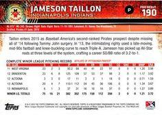 2015 Topps Pro Debut #190 Jameson Taillon Back
