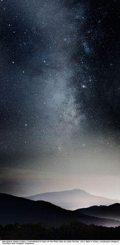 galaxy, milky way, stars, mountain, beauty