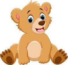 Cute baby bear cartoon Bear Cartoon Images, Cute Cartoon Drawings, Baby Cartoon, Cartoon Bear, Baby Bear Cub, Bear Cubs, Cute Funny Animals, Cute Baby Animals, Urso Bear