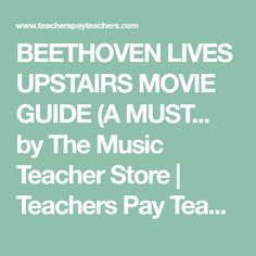Composer Specials: BEETHOVEN LIVES UPSTAIRS | Pinterest | Worksheets ...