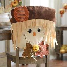Make Your Dining Room Even More Festive With A Set Of Cute Scarecrow Boy Chair  Covers