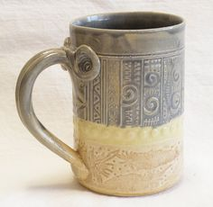 artisan southwest ceramic coffee cup 12oz stoneware by desertNOVA