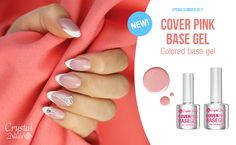 A versatile Crystal Nails innovation! This rose pink, flexible, soak-off base gel brings outstanding adhesion, and rocks the most popular Cover Pink shade. Easy to work with, provides effortless, smooth spreading! Crystal Nails, Pink Roses, Adhesive, Innovation, Rocks, Smooth, Base, Popular, Crystals
