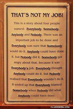 ૐƸ̵̡Ӝ̵̨̄Ʒツ♥ღEverybody Somebody Anybody NobodyƸ̵̡Ӝ̵̨̄Ʒツ♥ღ