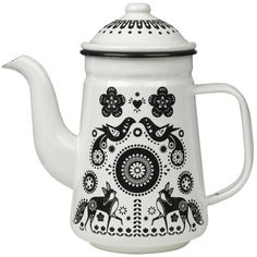 Folklore Enamel Teapot   Wild and Wolf -  - Bloomsbury Store