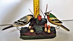 Dřevěné ptáčky-staré.Dřevořezba.Ruční práce. - obrázek číslo 1