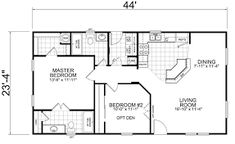 Image result for 24' x 40' floor plans