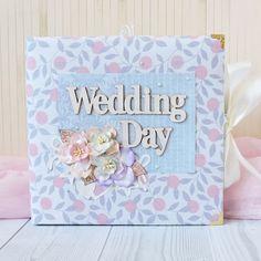 Оригинальный дизайнерский свадебный фотоальбом в подарок Wedding Day выполнен в…
