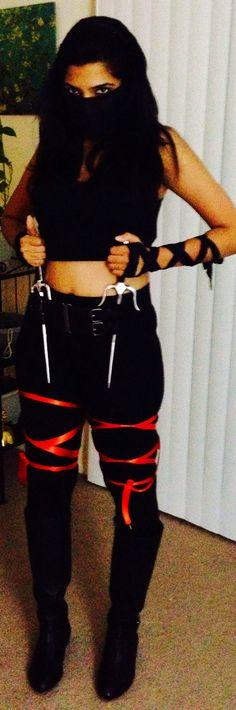 DIY shadow ninja costume