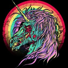 Zombie Unicorn T Shirt By RicoMambo Design By Humans