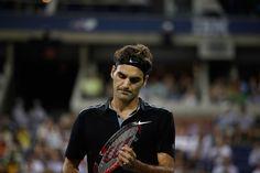 Roger Federer against Marinko Matosevic in round 1 of the US Open. - Corey Silvia/usopen.org