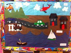 Transportation theme bulletin board