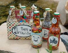 Father's Day candy bottles.