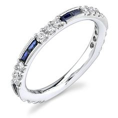 Icing on the Ring. I love the combo of round diamonds and baguette stones or diamonds!!! It also looks great with Radiant emerald square shaped cut center stone engagement ring with or without matching bands. This can be an Eternity Ring from hubby bf mom or your love ones ;) migrain beads enhance the diamond to make it pop and also gives the vintage look.  Without it you will get modern look. Rounds stone without the edge makes diamonds look bigger also. So many ways to enhance a look based…