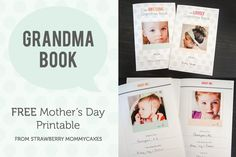 free printable grandma book mother's day idea