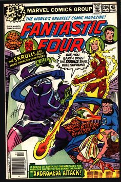 FANTASTIC FOUR 4 #204 Marv Wolfman Keith Pollard Queen Adora Xandar Skrull X Nova Prime Peter Sanderson Watcher Spider-Man Human Torch THING