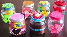 Turn your used baby food jars into decorative household items! In this video we will show you how to make decorative gift containers out of recycled baby fo. Baby Food Jar Crafts, Baby Food Jars, Mason Jar Crafts, Bottle Crafts, Mason Jars, Baby Food Containers, Cardboard Crafts, Glass Jars, Baby Food Recipes