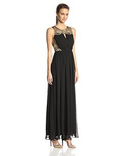 Hailey by Adrianna Papell Women's Long Illusion Gown with Gold Lace, Black/Gold, 4 Adrianna Papell http://www.amazon.com/dp/B00O20P1GW/ref=cm_sw_r_pi_dp_JwgBub1FXPM3V