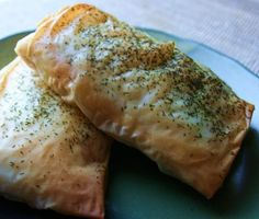 Phyllo Wrapped Salmon with Honey Garlic Sauce. Don't wrap like package, just fold phyllo dough around. Also, sauce is very spicy...but Marc likes it.