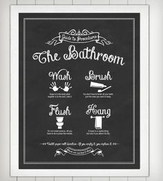 Guide to Procedures Bathroom Print   I need this for some certain children
