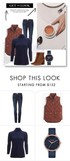 Sem título #656 by adrianabnu on Polyvore featuring moda, White + Warren, J.Crew, Frame, Gianvito Rossi and Nixon