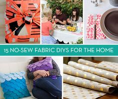 Roundup: 15 No-Sew Fabric Projects for the Home » Curbly | DIY Design Community