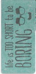 Life is Too Short Glasses Case