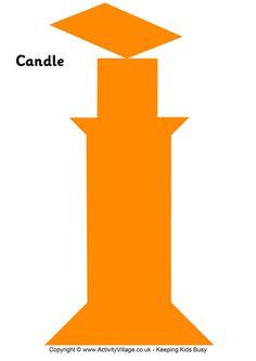 Tangram pattern candle