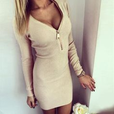 Women Dress Long Sleeve V-neck Dress Sexy Stretch Bodycon Dresses Fashion Sring Autumn Style One Piece Casual Clothing NQ272