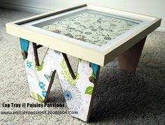 make a lap tray using wood letters
