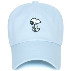 Peanuts Cotton Solid Color Cute Snoopy Embroidery Curved Casual Hat... ($19) ❤ liked on Polyvore featuring accessories, hats, baseball cap hats, baseball caps, embroidered ball caps, embroidered baseball hats and cotton baseball hats