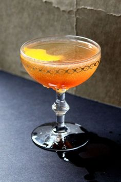 This light cocktail of brandy and the sweet herbal liqueur Chartreuse Jaune will have you feeling like sauntering down the Champs-Élysées in Paris.