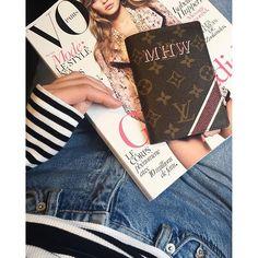 Louis Vuitton monogram passport cover and Vogue