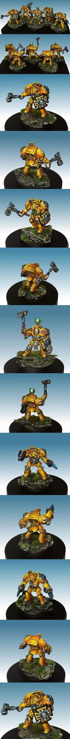 Imperial Fists Terminator Assault squad