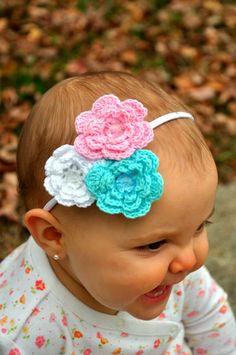 crocheted flower headband LOVE!!!