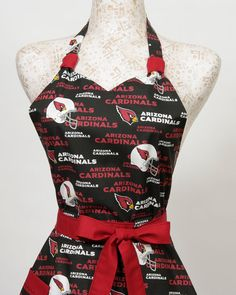 Team Apron NFL football Arizona Cardinals by apronqueen on Etsy, $34.95