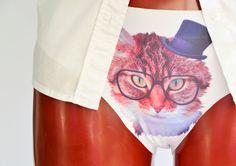 Pussycat Panties , Cat Underwear, Cute Cat  Panties,  , PUSSY CAT Panties, Gift for her, Kitty Women Lingerie