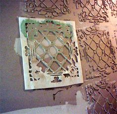 Hometalk :: Tin Ceiling Tile Look For Almost Free With Plaster and Paint