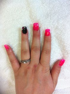Pink & Black shellac colors