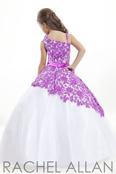aqua and purple flower girl | white and purple pageant dresses for girls