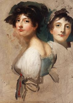 Sir Thomas Lawrence. Unfinished portrait of Emilia, Lady Cahir, later Countess of Glengall, 1805.