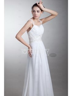 white dress #white #asymmetric #chiffon #evening #prom