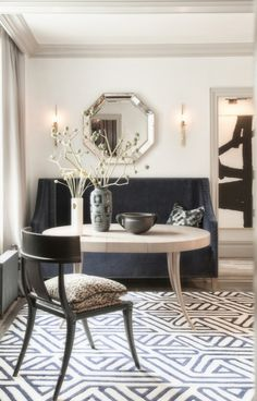 In Good Taste: Antonino Buzzetta - Design Chic - love the banquette and round dining table!
