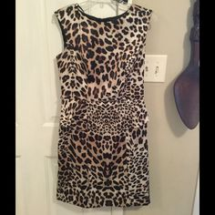 Cheetah Peplum Dress Cheetah Peplum Dress, worn once, size 8 (true to size), super modern. Smoke/Pet Free Home! AGB Dresses