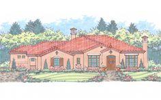 Villa Lago House Plan: Elevation